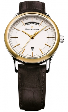Maurice Lacroix Les Classiques Quartz Day Date Mens watch, model number - lc1007-pvy11-130, discount price of £650.00 from The Watch Source