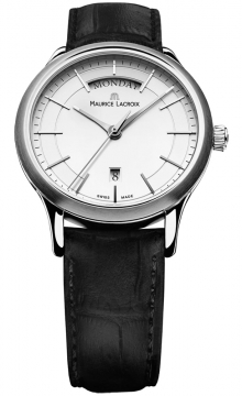 Maurice Lacroix Les Classiques Quartz Day Date Mens watch, model number - lc1007-ss001-130, discount price of £575.00 from The Watch Source