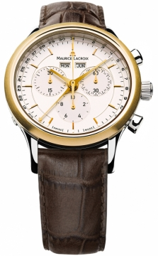 Maurice Lacroix Les Classiques Quartz Chronograph Mens watch, model number - lc1008-pvy11-130, discount price of £805.00 from The Watch Source