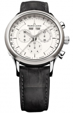 Maurice Lacroix Les Classiques Quartz Chronograph Mens watch, model number - lc1008-ss001-130, discount price of £805.00 from The Watch Source