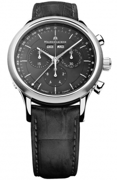 Maurice Lacroix Les Classiques Quartz Chronograph Mens watch, model number - lc1008-ss001-330, discount price of £805.00 from The Watch Source