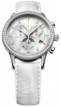 Maurice Lacroix Les Classiques Phase de Lune Chrono Ladies Ladies watch, model number - lc1087-sd501-160, discount price of £2,200.00 from The Watch Source