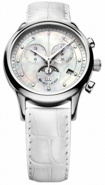 Maurice Lacroix Les Classiques Phase de Lune Chrono Ladies Ladies watch, model number - lc1087-ss001-160, discount price of £1,215.00 from The Watch Source