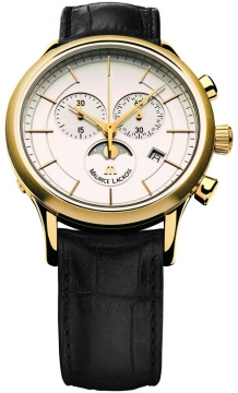 Maurice Lacroix Les Classiques Chronograph Phase de Lune Mens watch, model number - lc1148-pvy01-130, discount price of £865.00 from The Watch Source