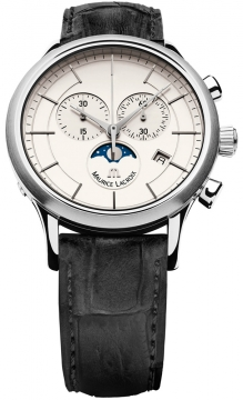 Maurice Lacroix Les Classiques Chronograph Phase de Lune Mens watch, model number - lc1148-ss001-130, discount price of £805.00 from The Watch Source