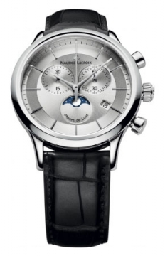 Maurice Lacroix Les Classiques Chronograph Phase de Lune Mens watch, model number - lc1148-ss001-131, discount price of £800.00 from The Watch Source