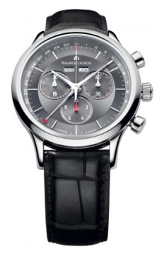 Maurice Lacroix Les Classiques Quartz Chronograph Mens watch, model number - lc1228-ss001-330, discount price of £770.00 from The Watch Source