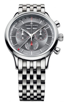 Maurice Lacroix Les Classiques Quartz Chronograph Mens watch, model number - lc1228-ss002-330, discount price of £820.00 from The Watch Source