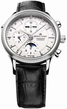 Maurice Lacroix Les Classiques Chronograph Day Date Phase de Lune Mens watch, model number - lc6078-ss001-13e, discount price of £2,575.00 from The Watch Source