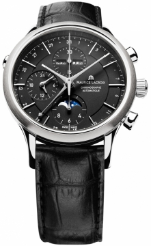 Maurice Lacroix Les Classiques Chronograph Day Date Phase de Lune Mens watch, model number - lc6078-ss001-33e, discount price of £2,575.00 from The Watch Source