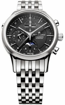 Maurice Lacroix Les Classiques Chronograph Day Date Phase de Lune Mens watch, model number - lc6078-ss002-33e, discount price of £2,635.00 from The Watch Source