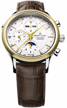 Maurice Lacroix Les Classiques Chronograph Day Date Phase de Lune Mens watch, model number - lc6078-ys101-13e, discount price of £3,010.00 from The Watch Source