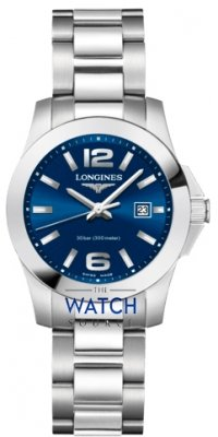 Longines Conquest Quartz Ladies 29.5mm L3.376.4.96.6 watch