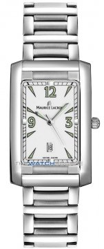 Maurice Lacroix Miros Rectangle Mens watch, model number - mi2026-ss002-121, discount price of £690.00 from The Watch Source