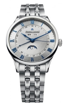 Maurice Lacroix Masterpiece Tradition Phase de Lune Mens watch, model number - mp6607-ss002-110, discount price of £2,740.00 from The Watch Source