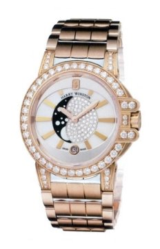 Harry Winston Ocean Lady Moon Phase 36mm Ladies watch, model number - oceqmp36rr010, discount price of £37,260.00 from The Watch Source