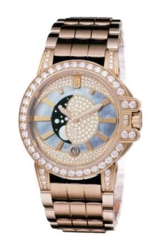 Harry Winston Ocean Lady Moon Phase 36mm Ladies watch, model number - oceqmp36rr016, discount price of £40,140.00 from The Watch Source