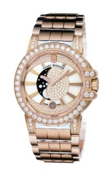 Harry Winston Ocean Lady Moon Phase 36mm Ladies watch, model number - oceqmp36rr020, discount price of £40,140.00 from The Watch Source