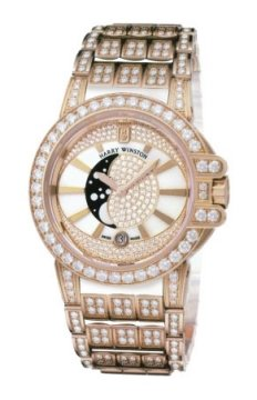 Harry Winston Ocean Lady Moon Phase 36mm Ladies watch, model number - oceqmp36rr022, discount price of £75,600.00 from The Watch Source