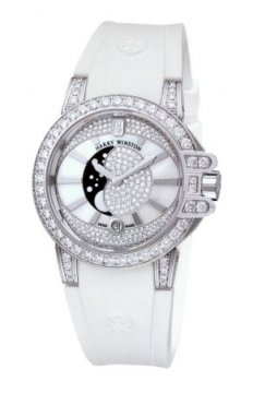 Harry Winston Ocean Lady Moon Phase 36mm Ladies watch, model number - oceqmp36ww001, discount price of £33,030.00 from The Watch Source