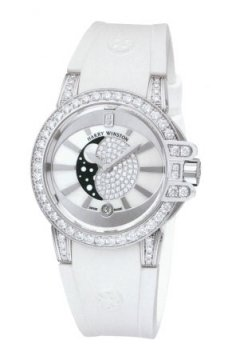 Harry Winston Ocean Lady Moon Phase 36mm Ladies watch, model number - oceqmp36ww003, discount price of £30,150.00 from The Watch Source