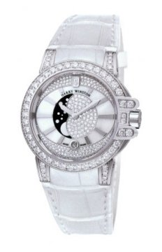 Harry Winston Ocean Lady Moon Phase 36mm Ladies watch, model number - oceqmp36ww009, discount price of £33,030.00 from The Watch Source