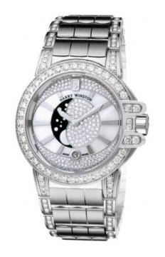 Harry Winston Ocean Lady Moon Phase 36mm Ladies watch, model number - oceqmp36ww013, discount price of £58,770.00 from The Watch Source
