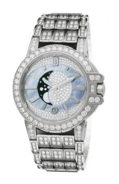 Harry Winston Ocean Lady Moon Phase 36mm Ladies watch, model number - oceqmp36ww014, discount price of £80,640.00 from The Watch Source