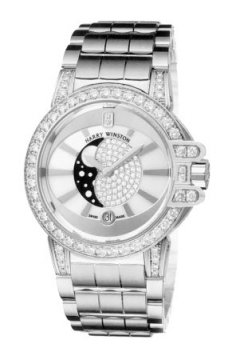 Harry Winston Ocean Lady Moon Phase 36mm Ladies watch, model number - oceqmp36ww015, discount price of £38,540.00 from The Watch Source