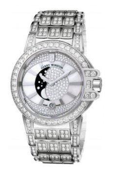Harry Winston Ocean Lady Moon Phase 36mm Ladies watch, model number - oceqmp36ww019, discount price of £73,470.00 from The Watch Source