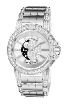 Harry Winston Ocean Lady Moon Phase 36mm Ladies watch, model number - oceqmp36ww021, discount price of £55,800.00 from The Watch Source