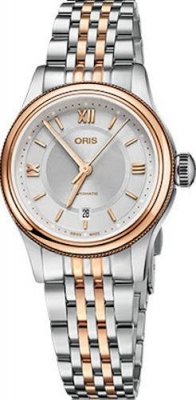 Buy this new Oris Classic Date 28.5mm 01 561 7718 4371-07 8 14 12 ladies watch for the discount price of £990.00. UK Retailer.