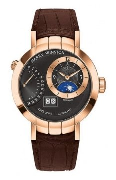 Harry Winston Premier Excenter Timezone 41mm Mens watch, model number - prnatz41rr002, discount price of £26,550.00 from The Watch Source