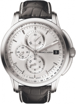 Maurice Lacroix Pontos Chrono Valgranges Mens watch, model number - pt6128-ss001-130, discount price of £2,490.00 from The Watch Source