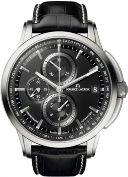Maurice Lacroix Pontos Chrono Valgranges Mens watch, model number - pt6128-ss001-330, discount price of £2,490.00 from The Watch Source