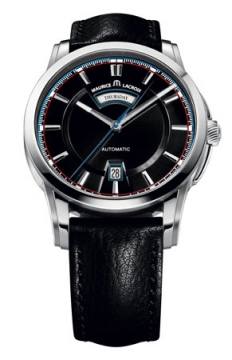 Maurice Lacroix Pontos Day & Date Mens watch, model number - pt6158-ss001-331, discount price of £1,600.00 from The Watch Source