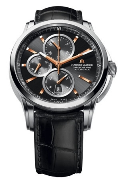 Maurice Lacroix Pontos Automatic Chronograph Mens watch, model number - pt6188-ss001-332, discount price of £2,280.00 from The Watch Source