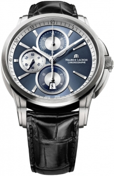 Maurice Lacroix Pontos Automatic Chronograph Mens watch, model number - pt6188-ss001-430, discount price of £2,280.00 from The Watch Source