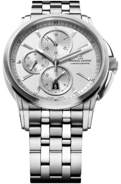 Maurice Lacroix Pontos Automatic Chronograph Mens watch, model number - pt6188-ss002-130, discount price of £2,280.00 from The Watch Source