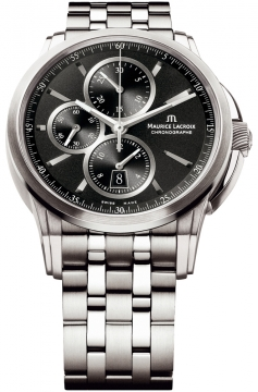 Maurice Lacroix Pontos Automatic Chronograph Mens watch, model number - pt6188-ss002-330, discount price of £2,280.00 from The Watch Source