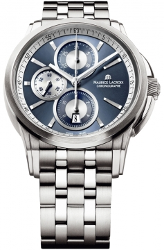 Maurice Lacroix Pontos Automatic Chronograph Mens watch, model number - pt6188-ss002-430, discount price of £2,280.00 from The Watch Source