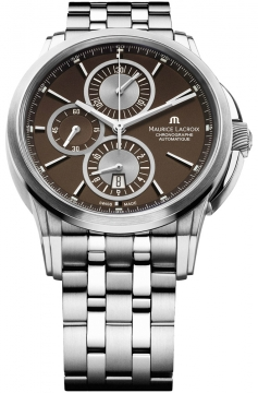 Maurice Lacroix Pontos Automatic Chronograph Mens watch, model number - pt6188-ss002-730, discount price of £2,280.00 from The Watch Source
