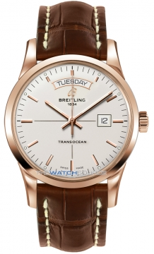 Breitling Transocean Day Date Mens watch, model number - r4531012/g752-2cd, discount price of £12,960.00 from The Watch Source