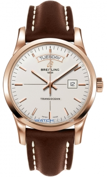 Breitling Transocean Day Date Mens watch, model number - r4531012/g752-2ld, discount price of £12,710.00 from The Watch Source