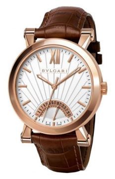 Bulgari Sotirio Bulgari Retrograde Date 42mm Mens watch, model number - sbp42wgldr, discount price of £13,782.00 from The Watch Source