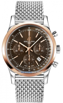 Breitling Transocean Chronograph 43mm Mens watch, model number - ub015212/q594-ss, discount price of £5,950.00 from The Watch Source