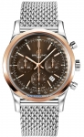 Breitling Transocean Chronograph 43mm ub015212/q594-ss watch