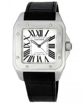 Cartier Santos 100 Large Mens watch, model number - w20073x8, discount price of £4,928.00 from The Watch Source
