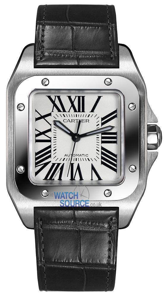 3ce27d3eb446 Buy this new Cartier Santos 100 Medium w20106x8 midsize watch for ...