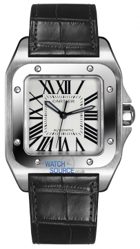 Cartier Santos 100 Medium Midsize watch, model number - w20106x8, discount price of £4,444.00 from The Watch Source